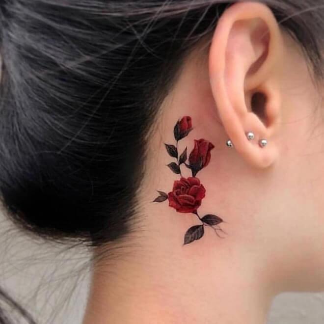 Top 30 Ear Tattoos for Men & Women  Stylish Ear Tattoo Designs 20