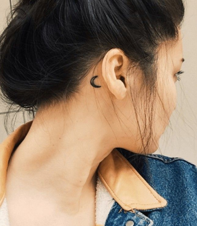 90 Trendy Small And Meaningful Back Ear Tattoos (behind Ear .