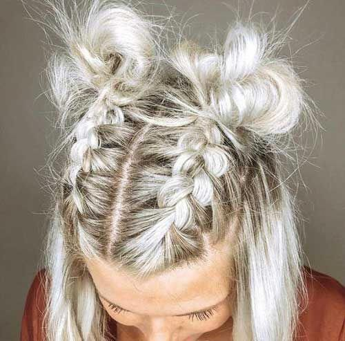 11.Easy Braided Hairstyle for Short Hair #braidedhairstyles .