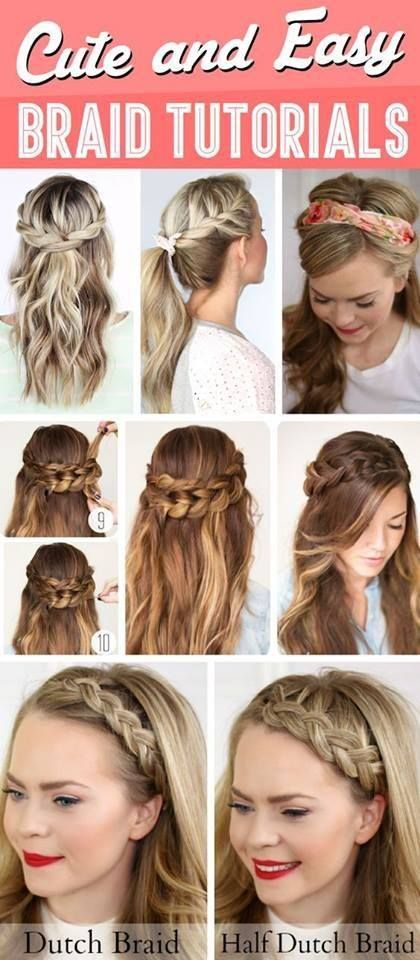 5 Quick and Easy Braided Hairstyles   Braids tutorial easy, Easy .