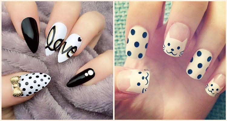 50 Different Polka dots Nail Art Ideas That Anyone Can D