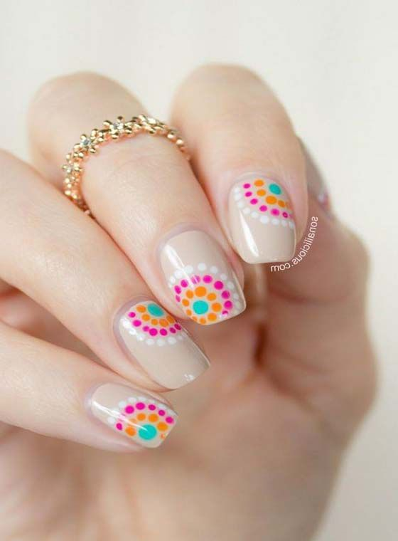 5431 Truly Inspiring Easy Dotted Nail Art Designs   Nail art .