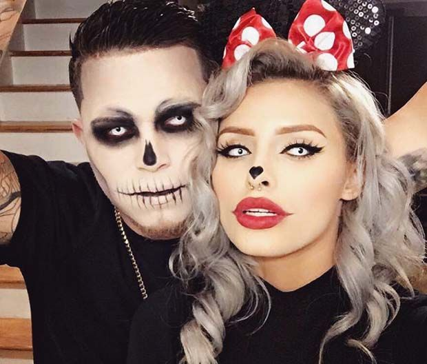 Easy Halloween Costume Idea for Couples | Scary halloween costumes .
