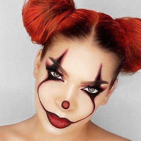 it clown artistry quick easy halloween makeup ideas inspo .