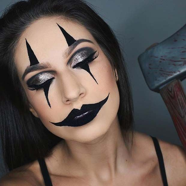 23 Creative and Easy Halloween Makeup Ideas   StayGlam   Creepy .