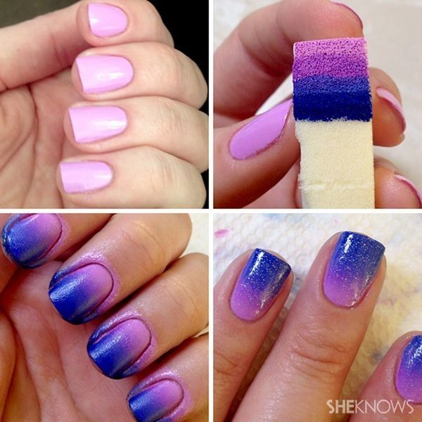 101 Easy Nail Art Ideas and Designs for Beginners   Ombre nails .