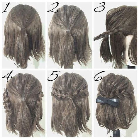 easy prom hairstyle tutorials for girls with short hair | Simple .