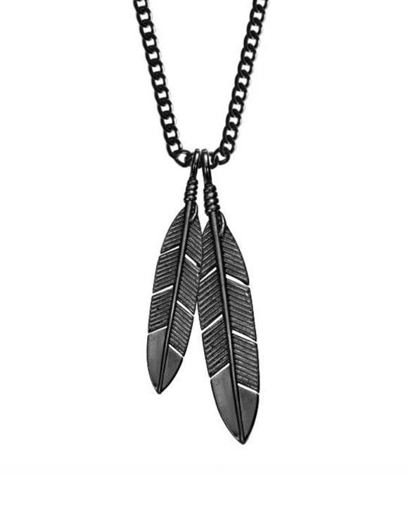 Feathers Necklace - Black – Strange Wa