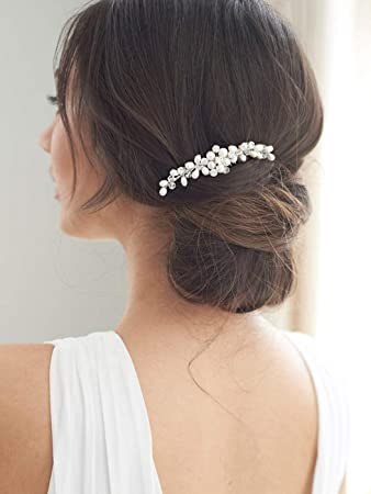 Amazon.com : Brishow Bride Wedding Hair Comb Crystal Bridal Hair .