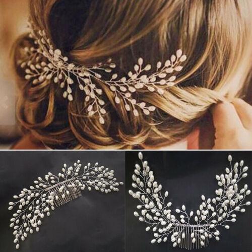 Fashion Wedding Art Deco Pearl Bride Hair Comb Bridal Hair .