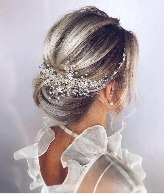 Crystal Bridal Hair Piece Wedding Hair Accessories Bridal Hair .