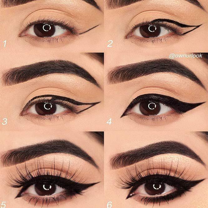 30 Terrific Makeup Ideas For Almond Eyes   No eyeliner makeup .