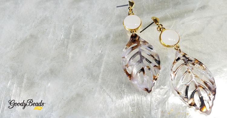 Fall-Inspired Acetate Leaf Earrings