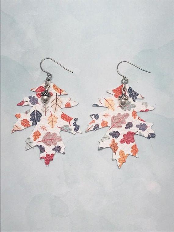 Fall Inspired Leaf Earrings