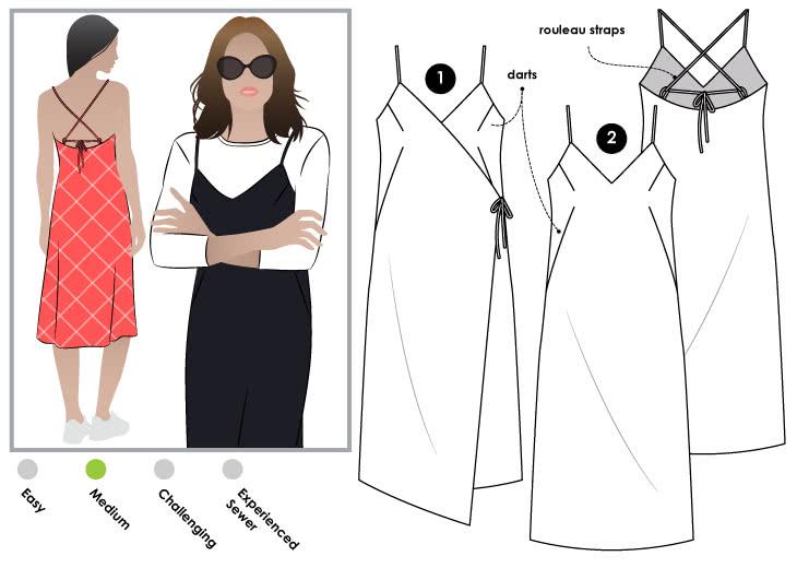 Juno Slip Dress Sewing Pattern – Dress Sewing Patterns – Style A