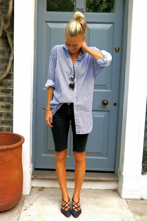 13 Ways to Wear Long Shorts and Still Look Stylish | Short outfits .