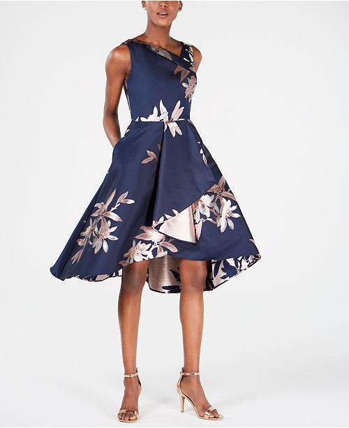 Adrianna Papell Petite Jacquard Fit & Flare Dress & Reviews .
