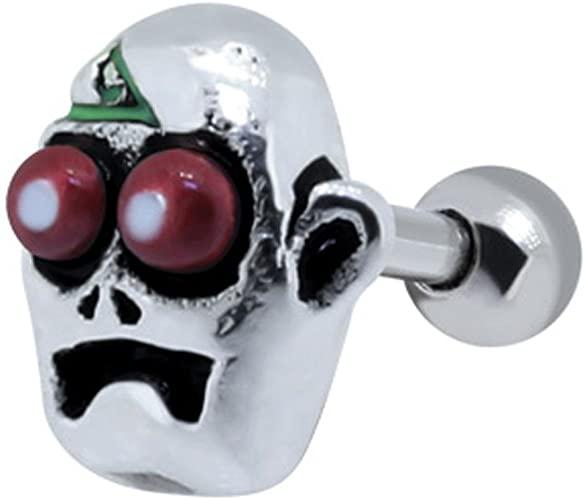 Amazon.com: BodyJewelleryShop Freaky Skull Ear Piercing Stud .