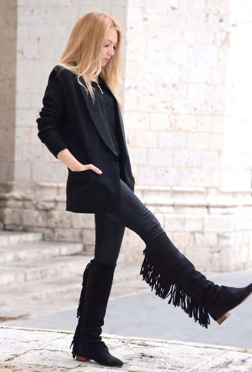 How To Wear: Fringe Boots For Women 2020   FashionGum.c