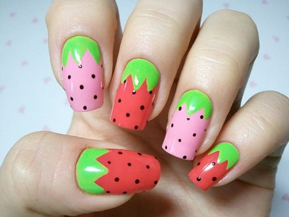News - Entertainment, Music, Movies, Celebrity | Strawberry nail .