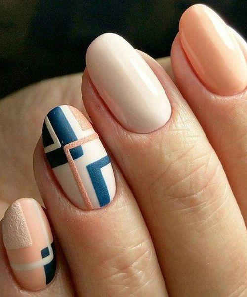 Incredible Geometric Nail Art Designs to Look Pretty   Manicura de .