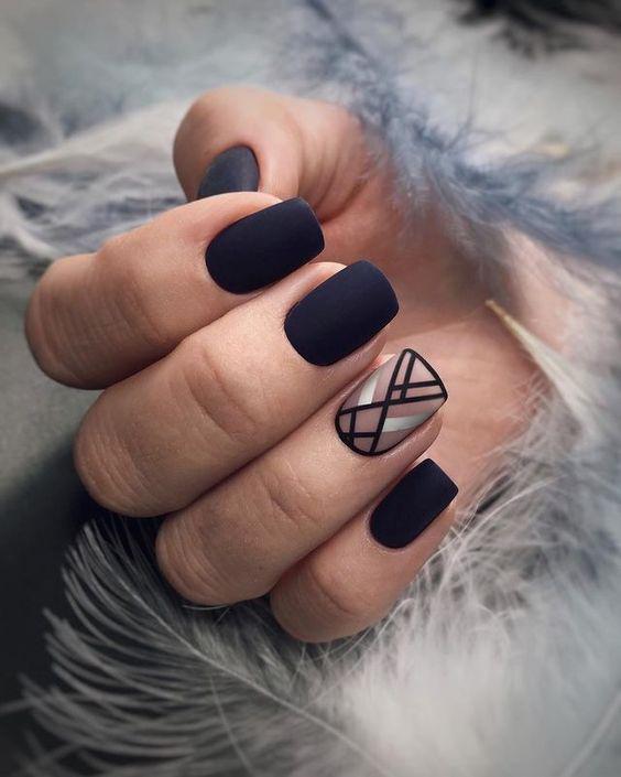 GEOMETRIC NAIL ART IDEAS   Matte nails design, Prom nail designs .