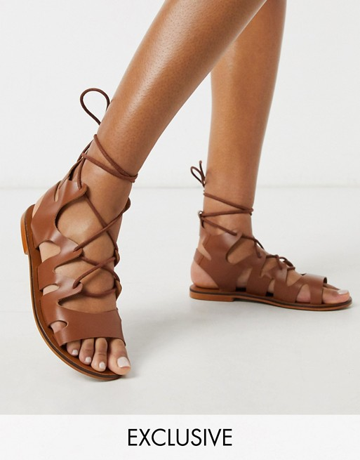 ASRA Exclusive Savannah gladiator sandals in tan leather | AS