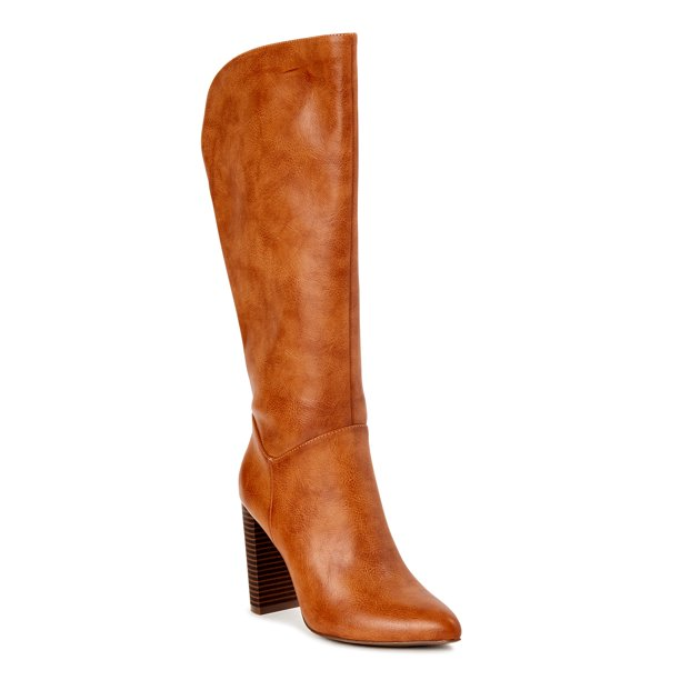 Scoop - Scoop Women's Joey Knee-High Heeled Boots - Walmart.com .