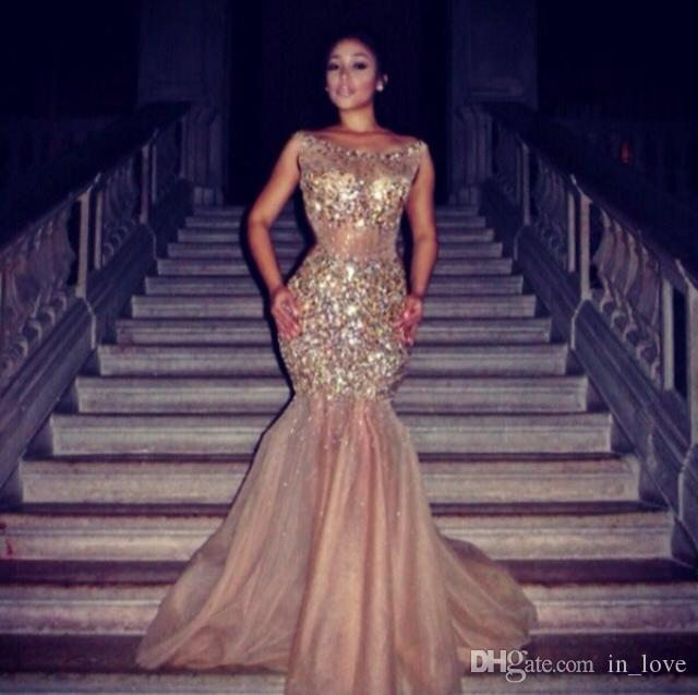 Luxurious Transparent Mermaid Gorgeous Prom Dresses New Dazzling .