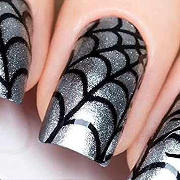 Amazon.com : Whats Up Nails - Spider Web Vinyl Stencils for .