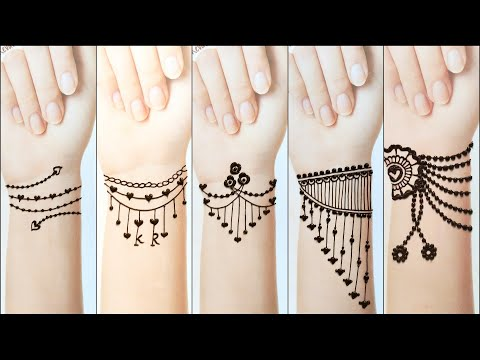 New ❤ Mehndi TATTOO ❤ Beautiful Easy Heena Mehndi Designs .