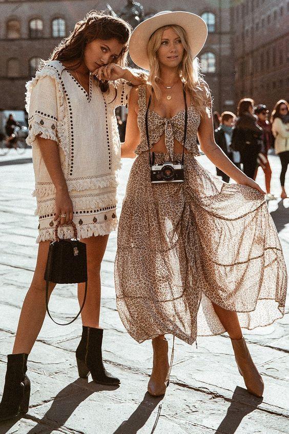 Summer Boho Outfit | Boho chic fashion, Spring outfits boho, Boho .