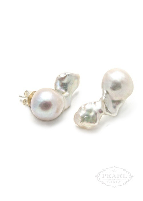 Angel Wing - Baroque Pearl Earrings - Baroque Pearl by The Pearl Gir