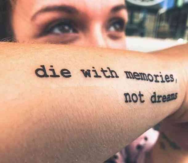 A necessary reminder to live life to the fullest. #tattoo .