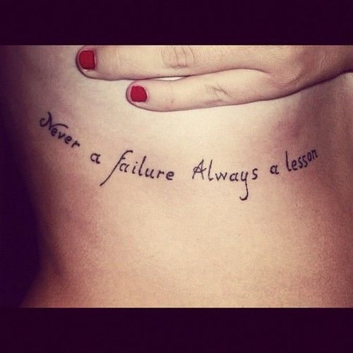 Inspirational Quote Tattoos 25 | Tattoo quotes, Tattoos .