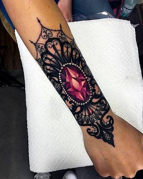 UK tattoo ideas. Gem stone ideas, lace tattoos, pearl tattoos .