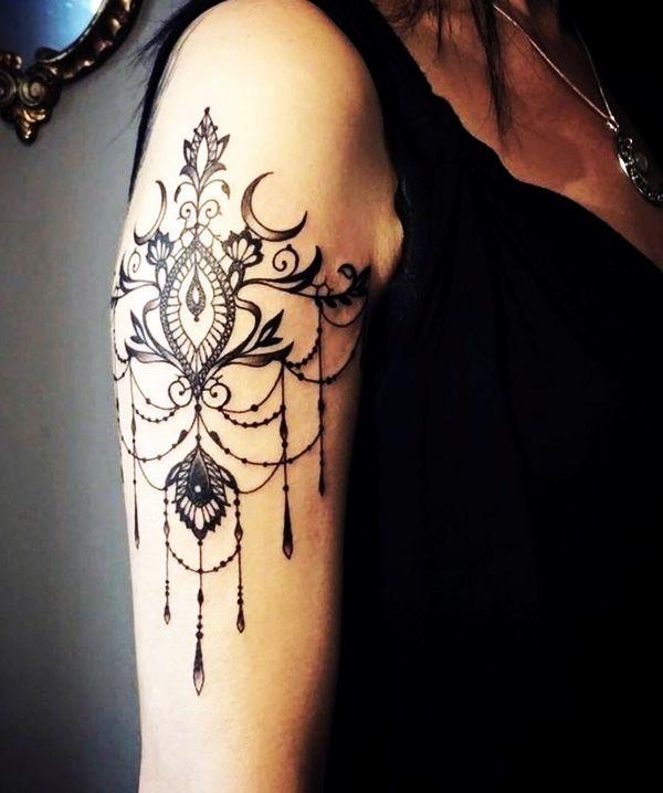 101 Tasteful Lace Tattoos Designs and Ideas   Lace tattoo design .
