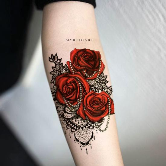 30 of the Most Realistic Lace Tattoo Ideas – MyBodiA