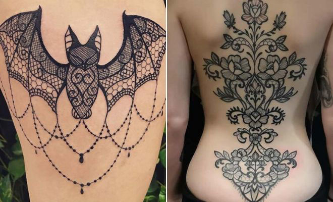 21 Stunning Lace Tattoo Ideas for Women   StayGl