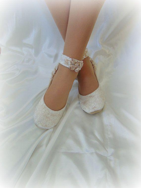 Champagne Lace Bridal Ballet ShoeBallerina Lace Bridal   Wedding .