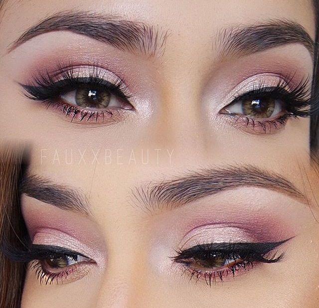 Smokey Eye Makeup | Cat Eyeliner | Smoky eye makeup, Pink eye .