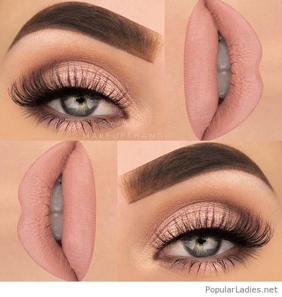 Light pink makeup, so natural | Eye makeup, Pink makeup, Beautiful .