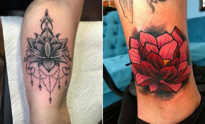 45 Pretty Lotus Flower Tattoo Ideas for Women | StayGl