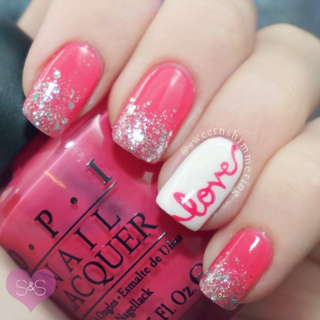 Pretty Valentine Day-ish Love Nails – Cute DIY Projec