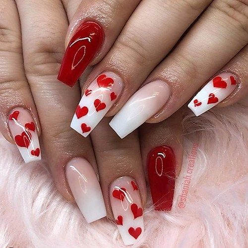 VALENTINES DAY NAIL DESIGNS TO FALL IN LOVE WITH - Moosie Blue .