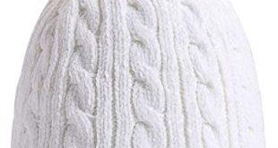 PAGE ONE Women Winter Pom Pom Beanie Hats Warm Fleece Lined .