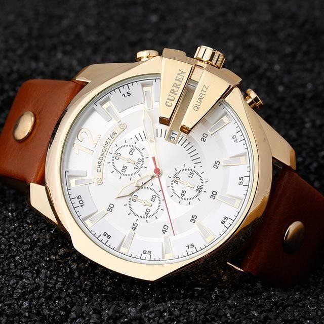 CURREN Men's Sports Quartz Watch Men Top Luxury Designer Watch .