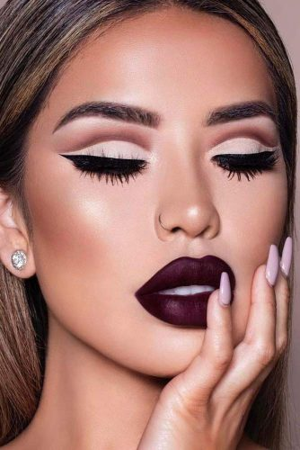 burgundy-lipstick-matte-makeup-ideas-to-try-this-s - Hairs.Lond
