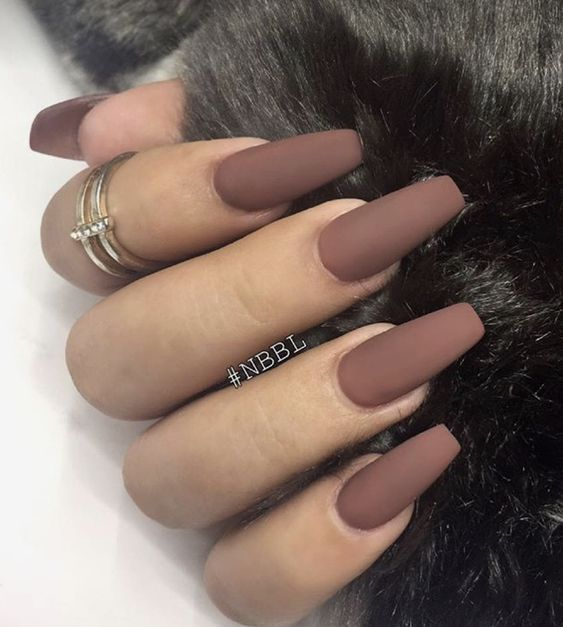 30+ Charming Matte Nail Designs To Try This Fall; Nail designs .