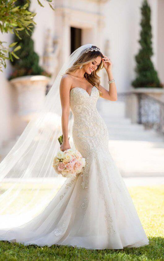 Mermaid Wedding Dress with Glamorous Lace | Wedding dresses .